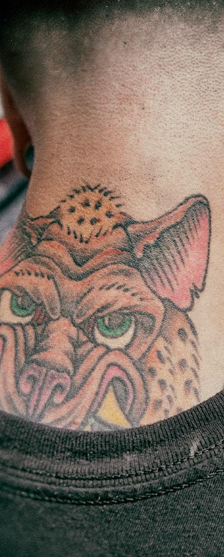 Piel tatuada